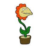 planta cômica do monstro dos desenhos animados Fotografia de Stock Royalty Free