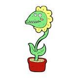 planta cômica do monstro dos desenhos animados Imagem de Stock