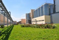Planta da fabricação de cerveja Fotografia de Stock