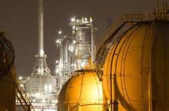 planta da Petróleo-refinaria foto de stock