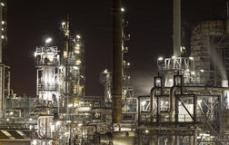 Planta da refinaria de petróleo imagens de stock