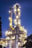 Planta da refinaria de petróleo Imagem de Stock Royalty Free