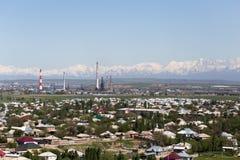 Planta da tubulação em Shymkent kazakhstan fotografia de stock
