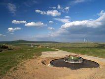 Planta das energias eólicas Fotos de Stock