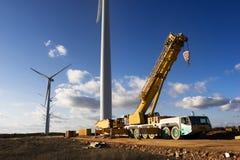 Planta das energias eólicas Foto de Stock