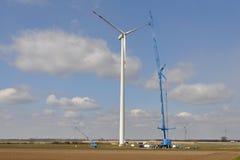 planta das energias eólicas foto de stock royalty free