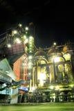 Planta de aço na noite Fotos de Stock Royalty Free