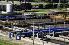 Planta de aguas residuales Imagen de archivo libre de regalías