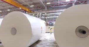 Planta de Alabuga, fábrica, fabricação de papel, indústria de papel vídeos de arquivo