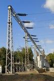 Planta de alto voltaje. Cierre para arriba Foto de archivo libre de regalías