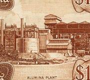 Planta de aluminio Imágenes de archivo libres de regalías