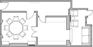 Planta de assoalho da arquitetura ilustração stock