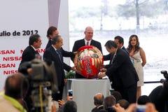 Planta de carro nova de Nissan em México Foto de Stock