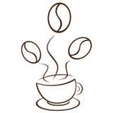Planta de Coffe ilustración del vector