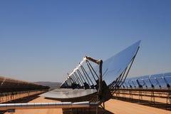 Planta de desierto de energía solar imagen de archivo libre de regalías