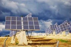 Planta de energía solar Foto de archivo libre de regalías