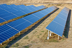 Planta de energía solar Imagen de archivo