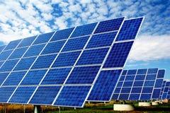 Planta de energía solar Imagen de archivo libre de regalías