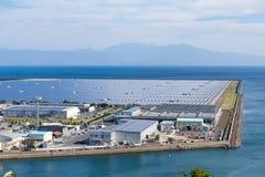 Planta de energía solar Imágenes de archivo libres de regalías