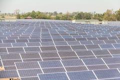 Planta de energía solar bajo construcción en Tailandia Imagen de archivo