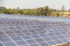 Planta de energía solar bajo construcción en Tailandia Imagen de archivo libre de regalías