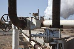 Planta de energia Geothermal Califórnia Fotos de Stock