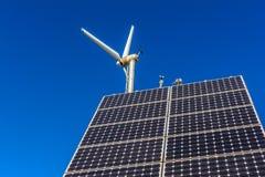 Planta de energias eólicas Foto de Stock Royalty Free