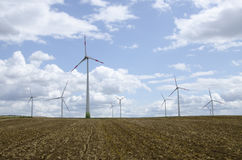 Planta de energias eólicas Fotografia de Stock Royalty Free