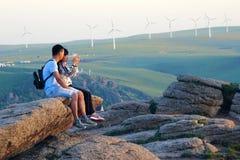 Planta de energias eólicas fotos de stock royalty free
