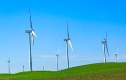 Gerador de poder do moinho de vento. fotos de stock