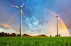 Planta de energias eólicas - energia do eco Imagem de Stock Royalty Free
