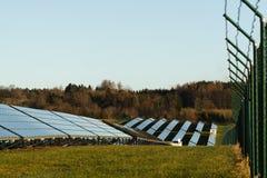 Planta de energias solares Fotografia de Stock Royalty Free
