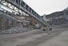 A planta de esmagamento de pedra no brekke quarries a planta 6 fotografia de stock royalty free