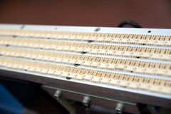 Planta de fábrica automatizada para el componente eléctrico Imágenes de archivo libres de regalías