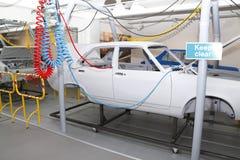 Planta de fábrica de la producción del coche imagen de archivo libre de regalías