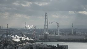 Planta de fábrica industrial vídeos de arquivo