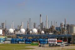 Planta de fábrica de la industria petroquímica fotos de archivo