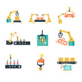 Planta de fabricación automatizada industrial Imagen de archivo