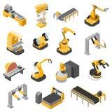Planta de fabricación de la maquinaria de la industria pesada vector isométrico plano 3d stock de ilustración
