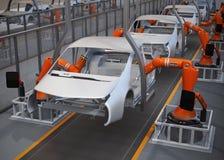 Planta de fabricación del cuerpo de los vehículos eléctricos libre illustration