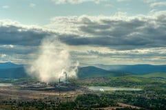 Planta de fundição do cobre de Karabash fotos de stock