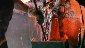 Planta de fundição video editorial do metal da fundição filme