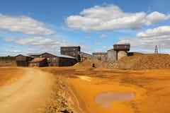 Planta de fundición de la fábrica de la mina de cobre Imagenes de archivo