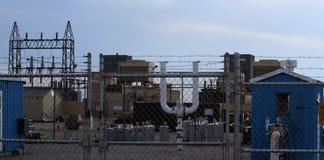 Planta de gas natural Foto de archivo libre de regalías