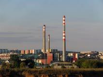 Planta de incineração Imagem de Stock Royalty Free