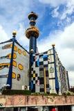 A planta de incineração de Spittelau em Viena, Áustria Fotos de Stock