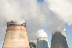 Planta de la central eléctrica en Moscú Fotografía de archivo libre de regalías