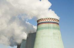 Planta de la central eléctrica en Moscú Imagen de archivo libre de regalías