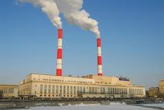 Planta de la central eléctrica en Moscú Foto de archivo