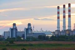 Planta de la corriente eléctrica de la turbina de gas Fotografía de archivo